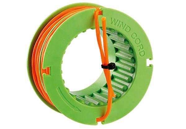 EGO Fadenspule, 2,4 mm gedrehter Faden für Freischneider ST1500E, BC1500E, 5 m