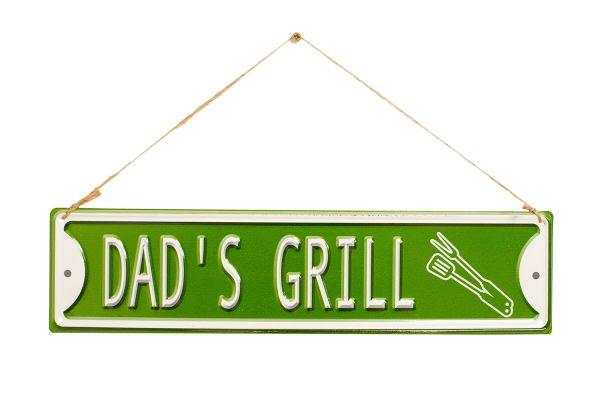 """La Hacienda """"Dad's Grill"""" Vintage-Metallschild"""