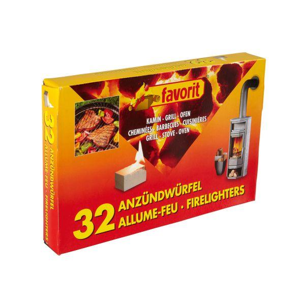 Favorit Grillanzünder, Anzündwürfel weiß, 32 Stück