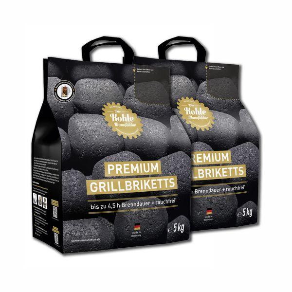 Premium Grillbriketts inkl. Premium Brennpaste (2x 5kg)