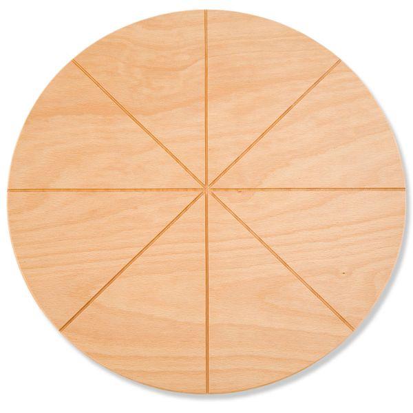 Gi.Metal Buchenholz-Schneidebrett für Pizza