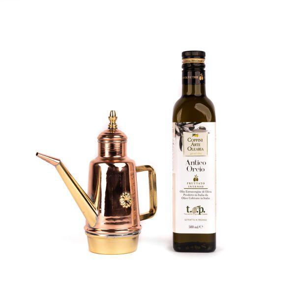 Gi.Metal Kupfer-Ölkanne im Set mit Coppini Arte Olearia »Antico Orcio« natives Olivenöl extra