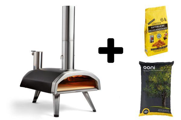 Ooni Fyra 12 Pizzaofen - Set mit Pellets & Anzünder