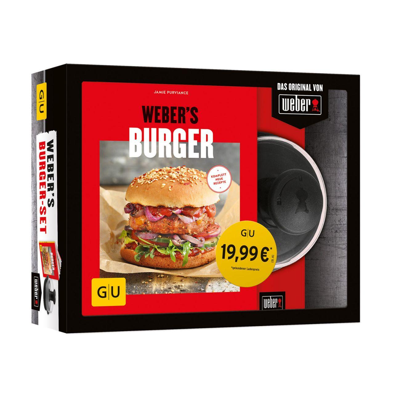 Weber's BurgerSet Buch und grosse Burgerpresse 978-3-8338-6704-0
