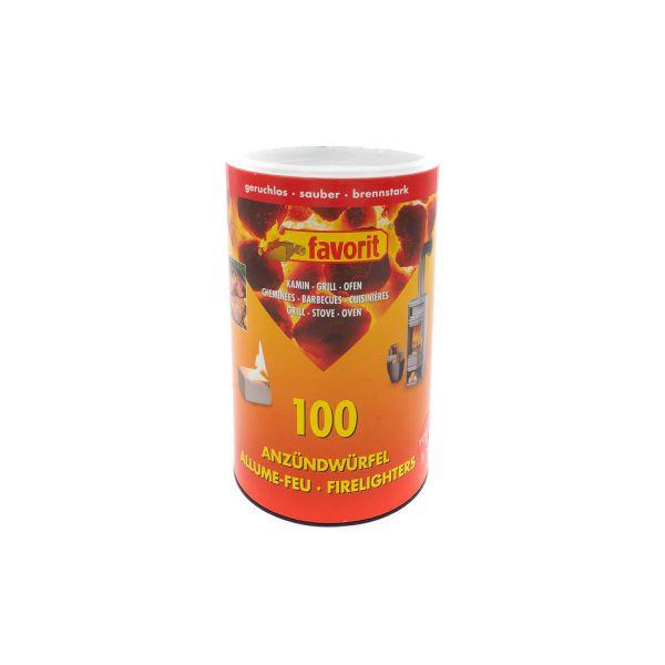 Favorit Anzündwürfel in der Dose, 100 Stück