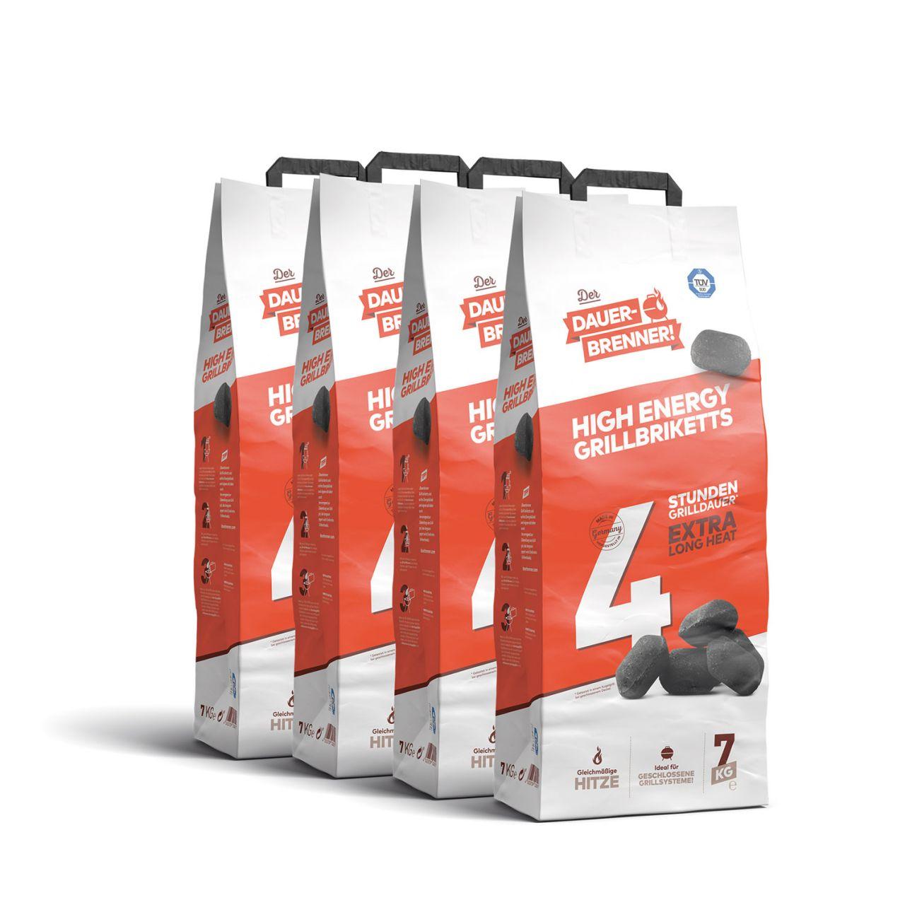 Der Dauerbrenner High Energy Grillbriketts (4x 7kg)