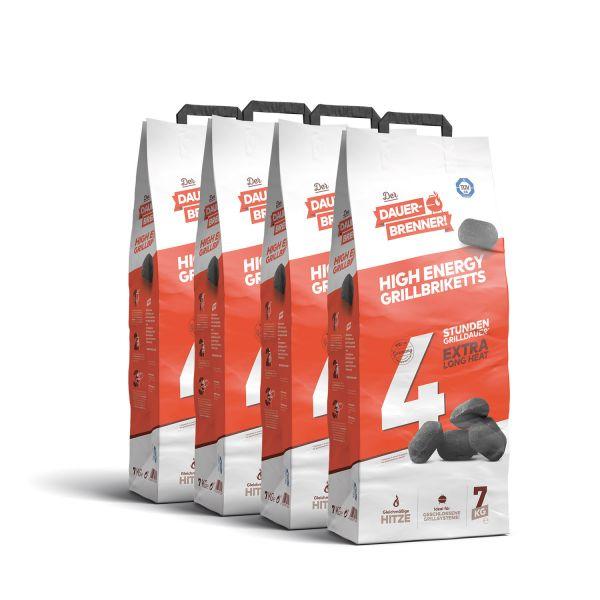 Dauerbrenner High Energy Grillbriketts (4x 7kg)