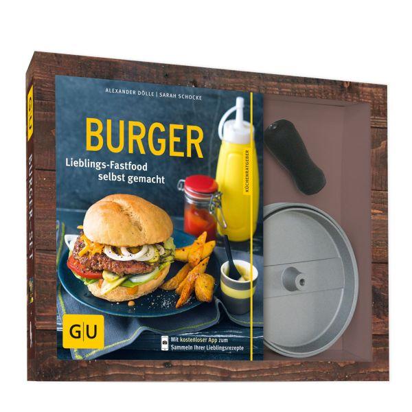 Burger-Set: Küchenratgeber + Burgerpresse