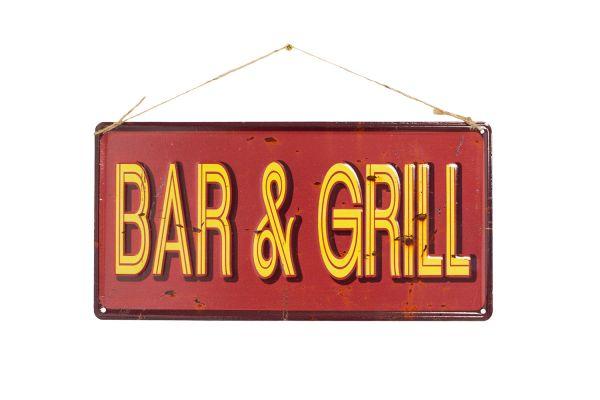 "La Hacienda ""Bar & Grill"" Vintage-Metallschild"