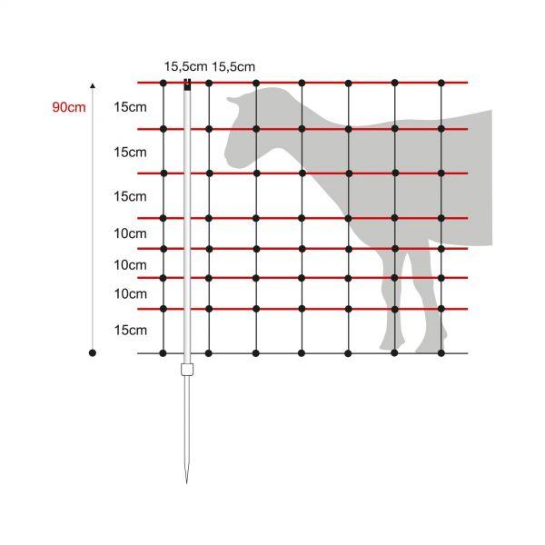 horizont horinetz Schafnetz, 90cm, 50m