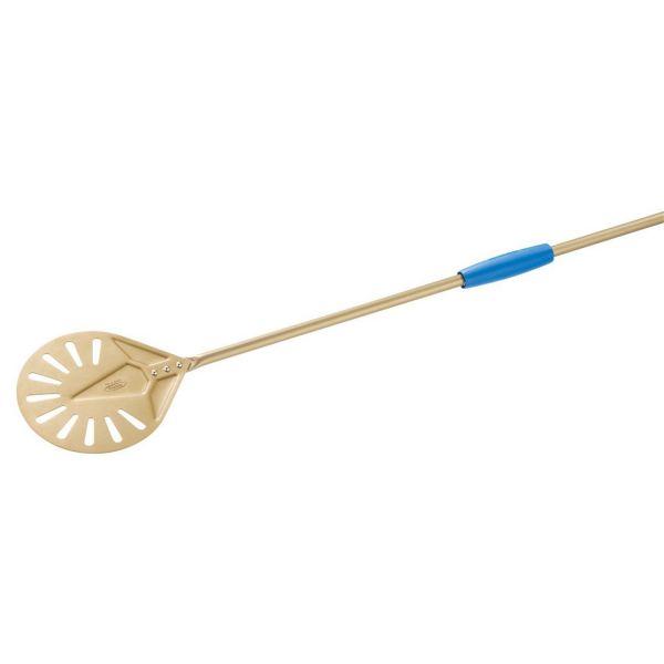 Gi.Metal »Linea Gold« runder Pizzaheber mit langem Stiel (150 cm)