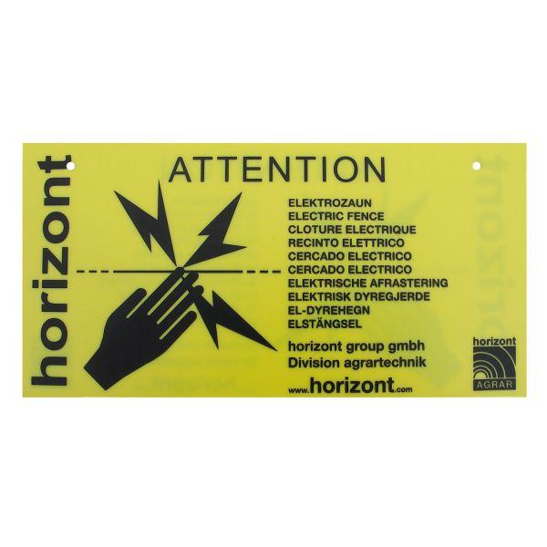 horizont Warnschild für Knotengitter