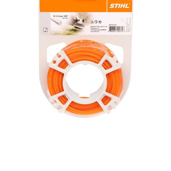 STIHL Mähfaden rund, 2,4 mm Ø, orange