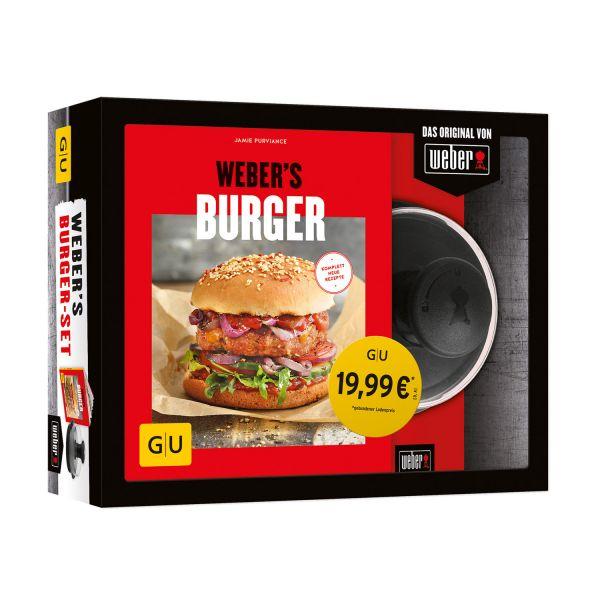 Weber's Burger-Set - Buch und grosse Burgerpresse