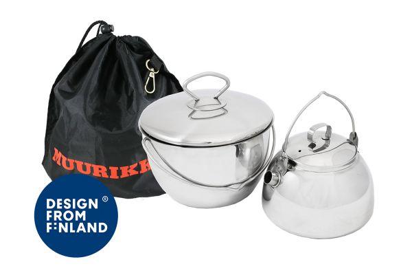 Muurikka Topf & Kanne für Lagerfeuer