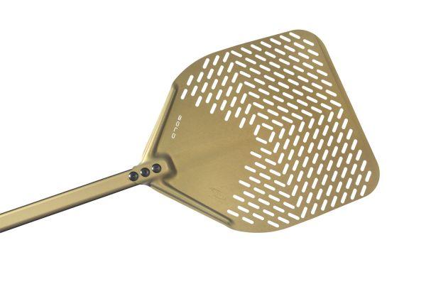 Gi.Metal »Linea Gold« Pizzaheber mit langem Stiel (150 cm), perforiert
