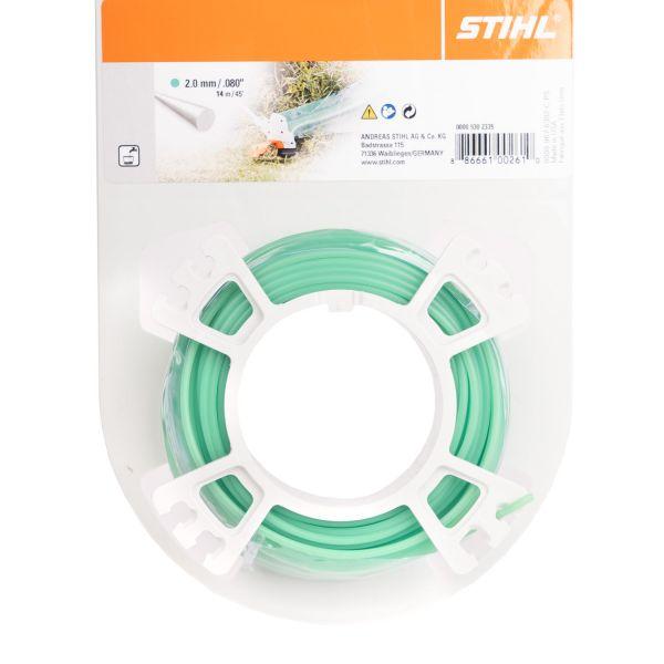 STIHL Mähfaden rund, 2,0 mm Ø, grün