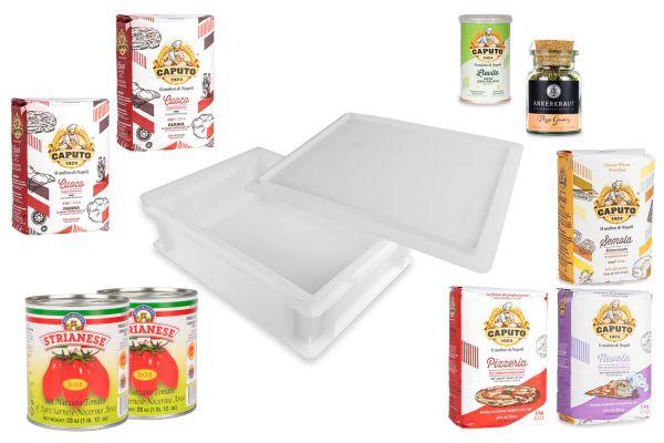 Original ital. Pizza-Box von Caputo, Strianese & Gi.Metal, 11-tlg.