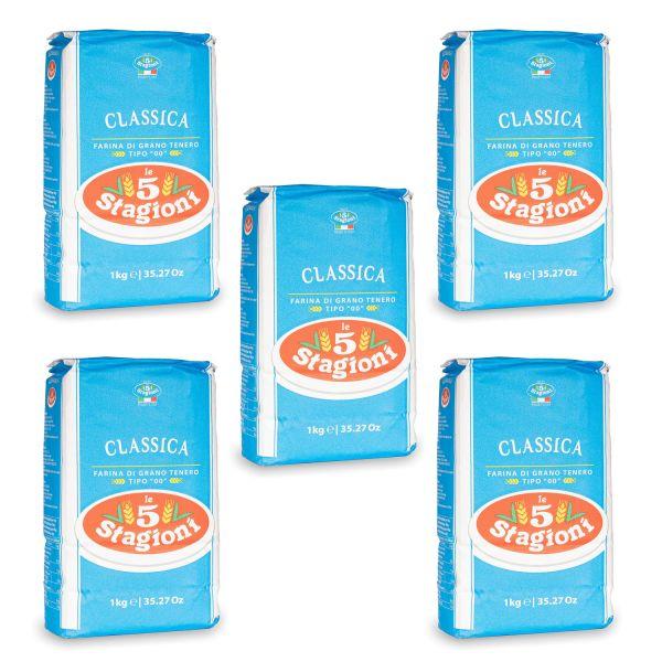 Le 5 Stagioni Classica Pizzamehl Spar-Set (5x 1 kg)