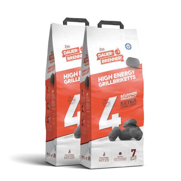 Dauerbrenner High Energy Grillbriketts (2x 7kg)