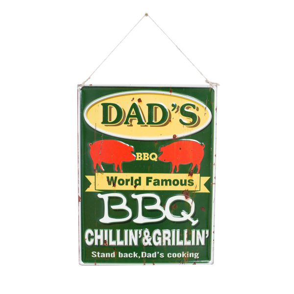 "La Hacienda ""Dad's BBQ"" Vintage-Metallschild"
