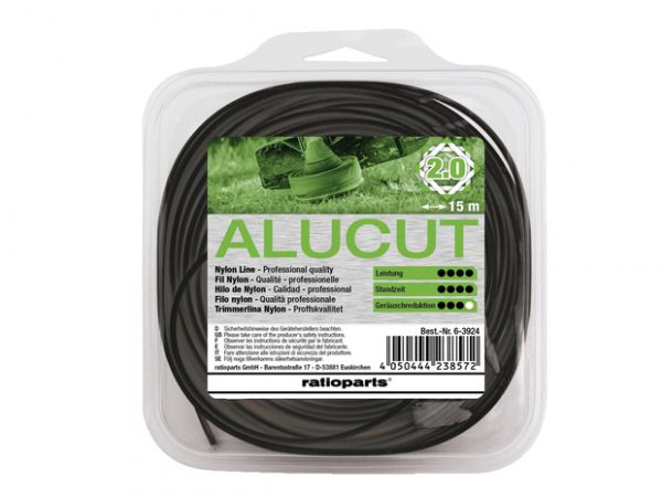 Ratioparts Hybrid Twist Nylonfaden, AluCut, 2,0mm, 15m (6-3924)