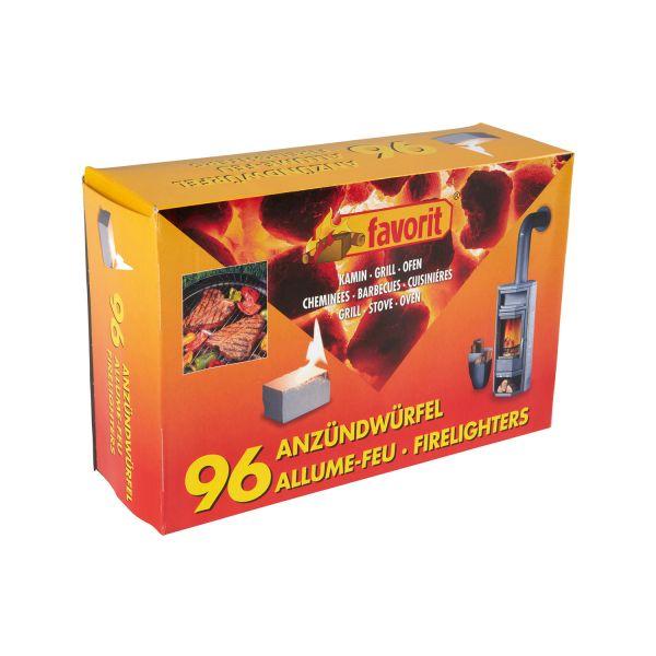 Favorit Grillanzünder, Anzündwürfel weiß, 96 Stück