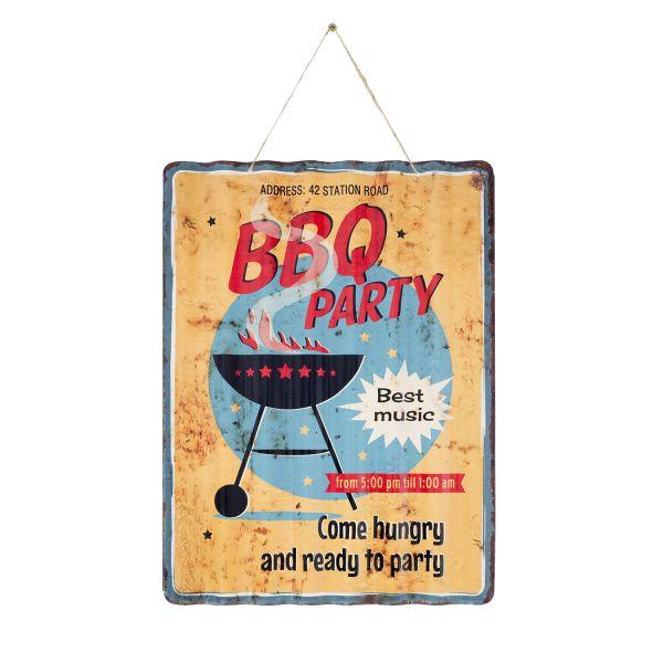 "La Hacienda ""BBQ Party"" Vintage-Metallschild"