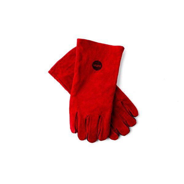 Ooni Grillhandschuhe aus Leder, rot