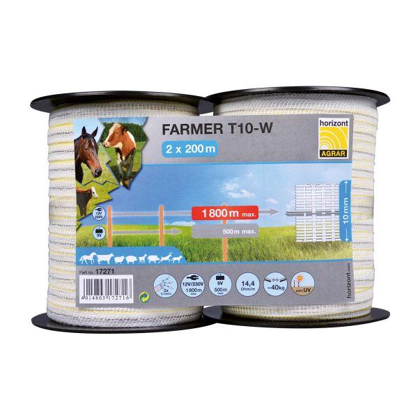 horizont FARMER Weidezaunband Doppelpack (2 x 200m)
