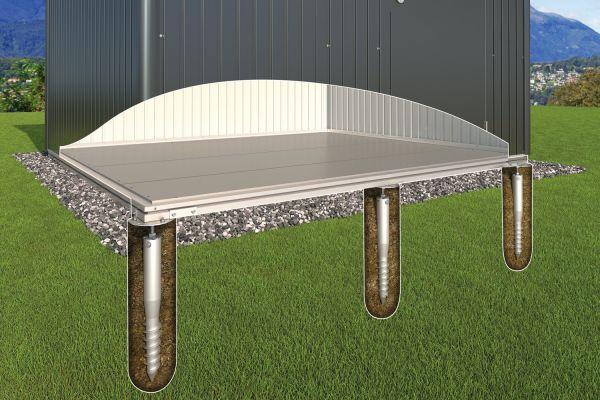 Biohort Erdschrauben-Fundament für Gerätehaus HighLine und Panorama