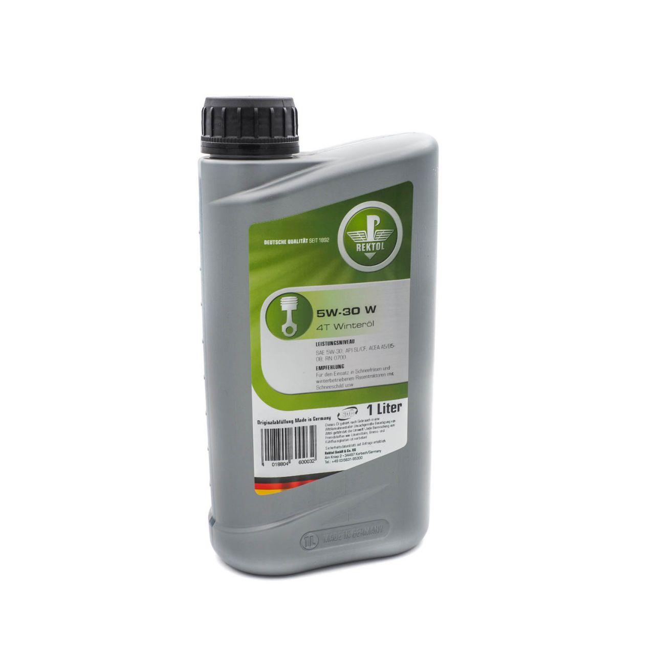 Rektol Winteröl 5W30 W 4T für Schneefräsen und Rasentraktoren (1 Liter) RK_002