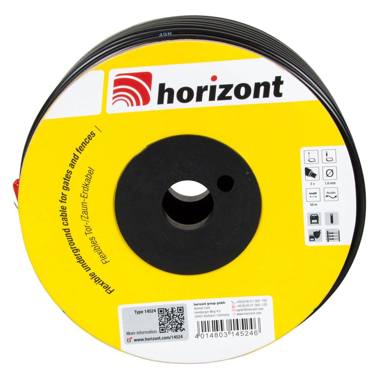 horizont flexibles Tor ZaunErdkabel 50m 14524