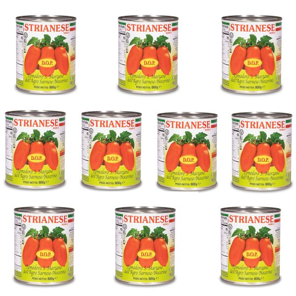Strianese San Marzano Tomaten Spar-Set (10x 800g)