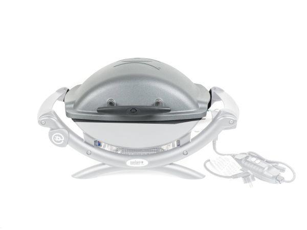 Weber Elektrogrill Q 1400 Stand Dark Grey : Weber ersatzteil deckel für q140 q1400 dark grey 63794