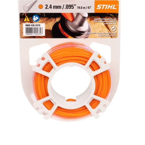 STIHL Mähfaden rund und leise, 2,4 mm Ø, orange