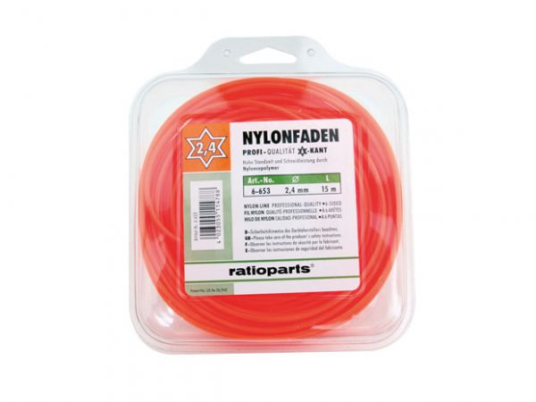 Ratioparts Nylonfaden, 6-Kant, 2,4mm, 15m (6-653)