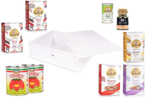 FUMOSA Pizza-Box mit Caputo Pizzamehl, San Marzano Tomaten & Pizzagewürz, 11-tlg.