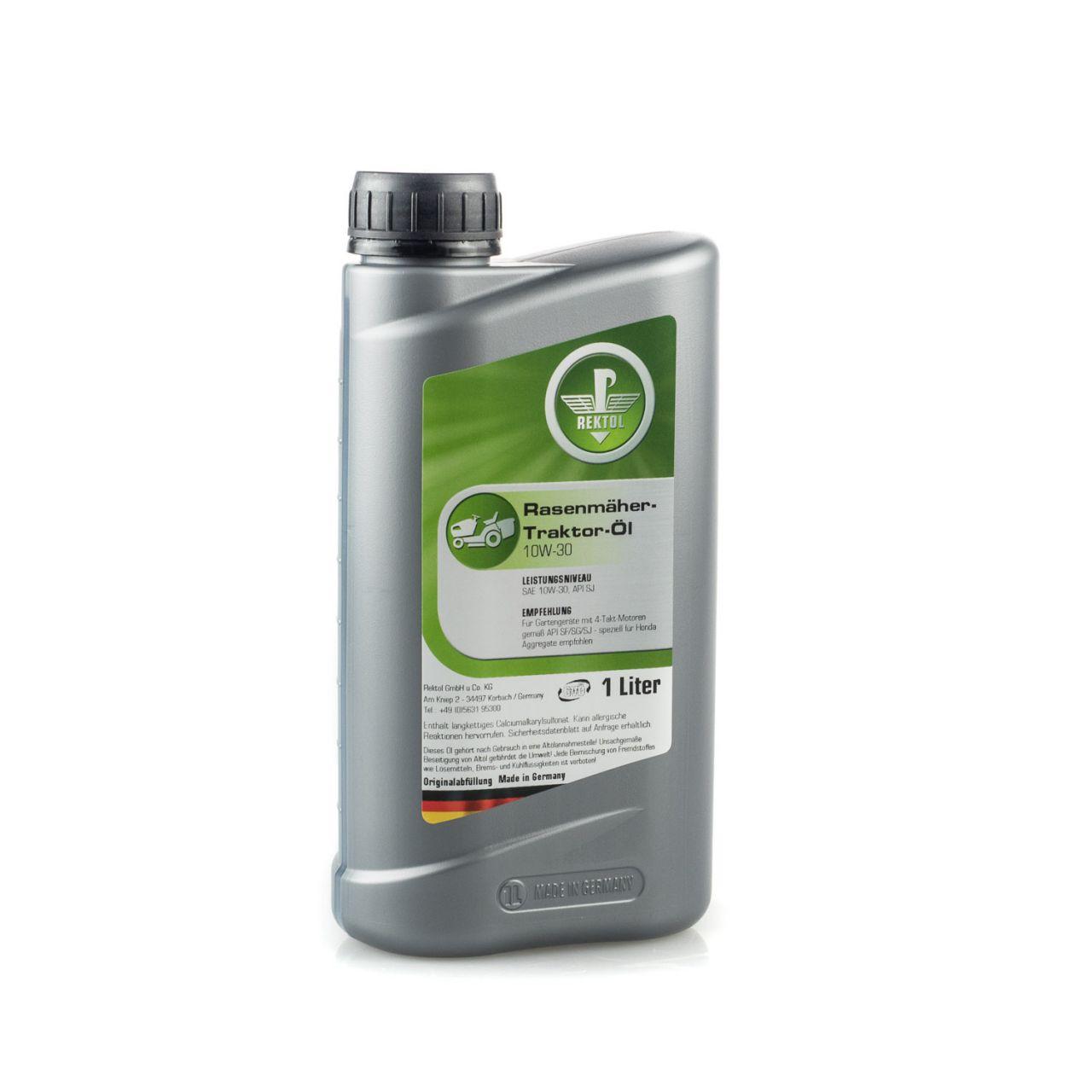 Rektol Rasenmäher & Rasentraktor Öl 10W30 (1 Liter) RK_001