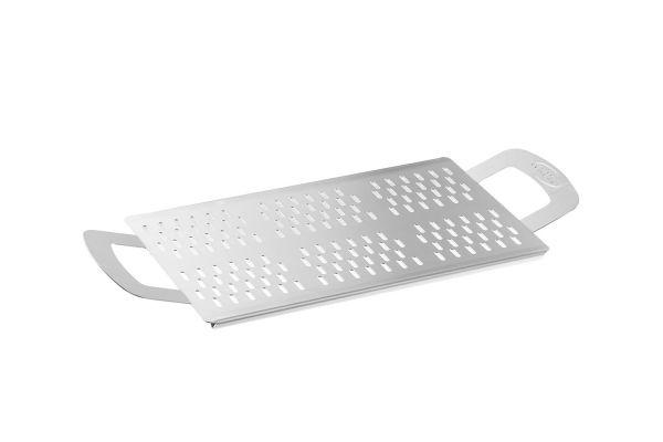 Gi.Metal perforiertes Pizza-Tablett, rechteckig