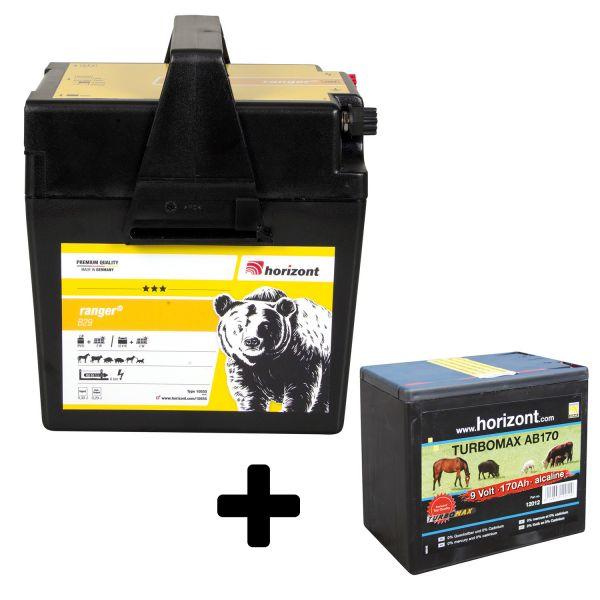 horizont ranger B29 Weidezaungerät-Set, inkl. 9 V Batterie