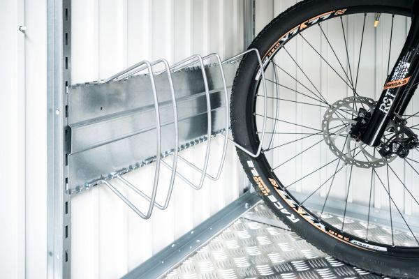 Biohort Fahrradständer bikeHolder für Gerätehäuser und HighBoard, Set für 3 Räder