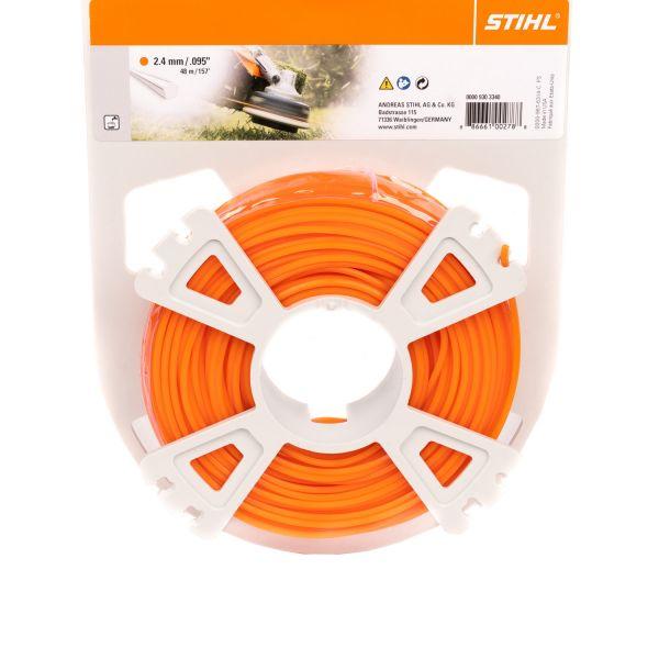 STIHL Mähfaden fünfeckig, 2,4 mm Ø, orange, 48 m