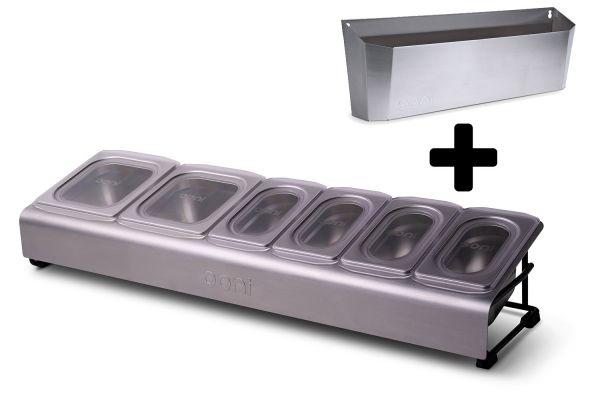 Ooni Upgrade-Kit für modularen Pizzaofentisch - Pizza-Belagstation + Zubehör-Box