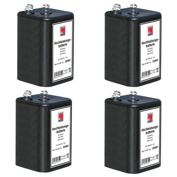 horizont 6 V Blockbatterie-Set (4 Stück à 7Ah)