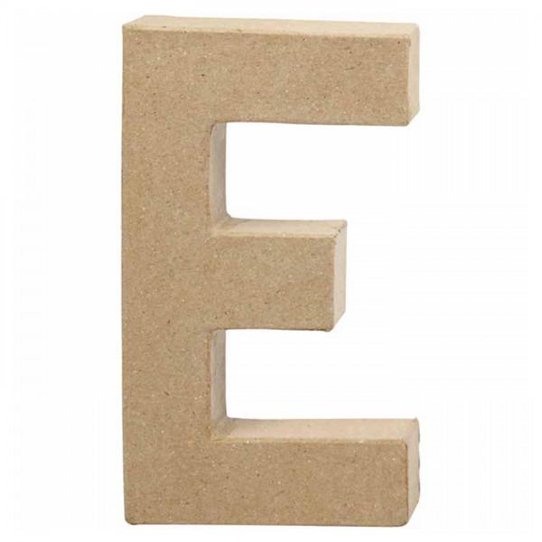 Buchstabe E Pappmaché ca. 115x200x25mm