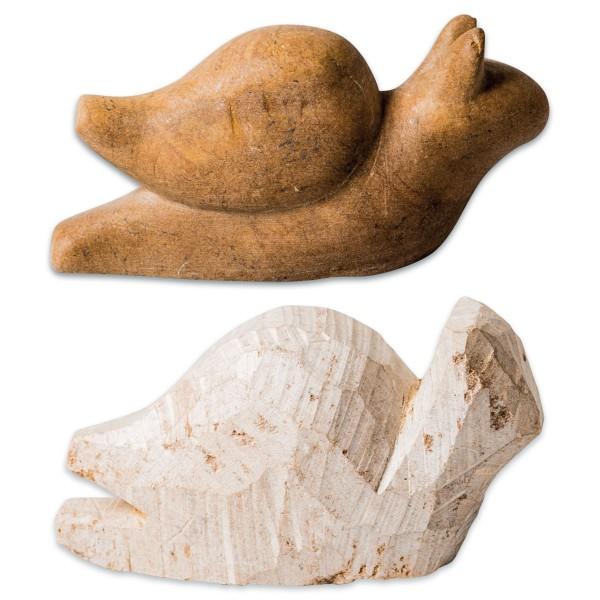 Speckstein-Rohling ca. 8-10cm Schnecke Farbe zufällig