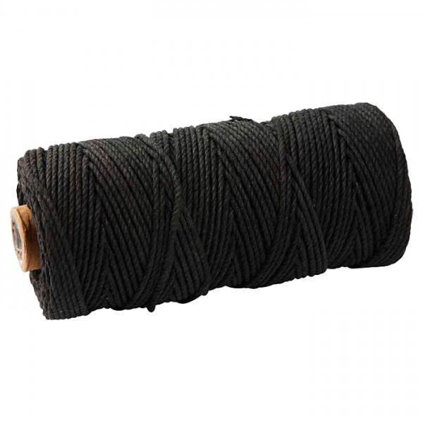 Baumwollkordel 2mm 225g ca. 100m schwarz 85% Baumwolle, 15% Polyester