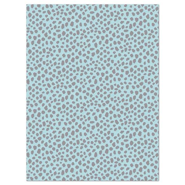 Decoupagepapier hellblau/grau gemustert von Décopatch, 30x40cm, 20g/m²