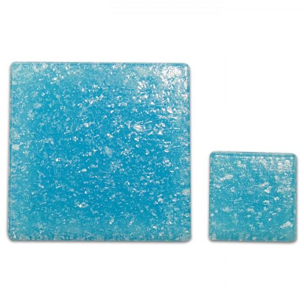 Glasmosaik Joy 10x10x4mm 1kg azurblau ca. 1.450 Steine